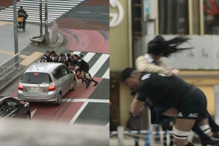 ラグビー最強チーム「オールブラックス」が東京でタックルしまくり!なぜそんなことするの?