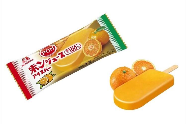 """""""ポンジュース""""のアイスバーが登場! みずみずしい蜜柑とオレンジが口いっぱいに広がる!"""