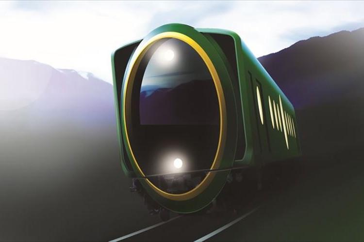 何だこの楕円は!?「叡山電鉄」に神秘的な雰囲気がただよう斬新な観光用車両が登場!