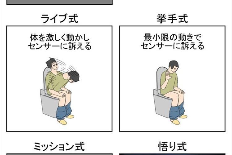 あなたはどのタイプ? 人感センサー付きトイレで用の最中に消灯した時のとっさのアクション
