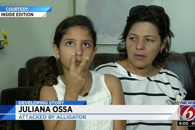 ワニに足を噛まれた少女、自力でワニの口を開け奇跡の生還!