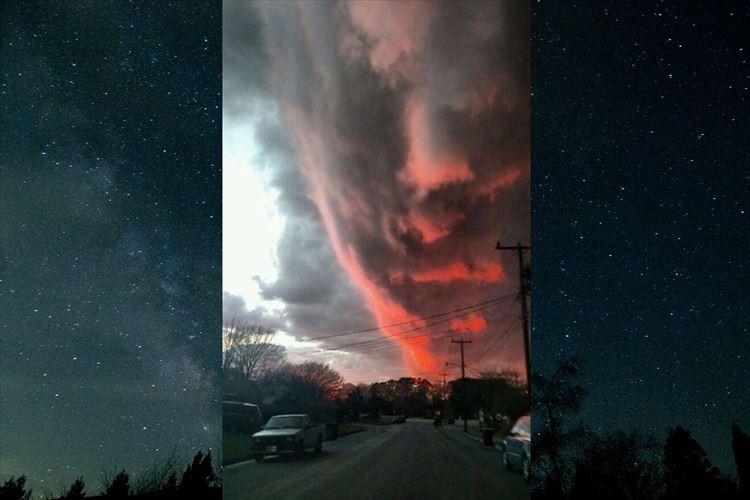 """「人類の終わりを感じる」まるで""""人の顔""""のような不気味な雲が現れて話題に!"""