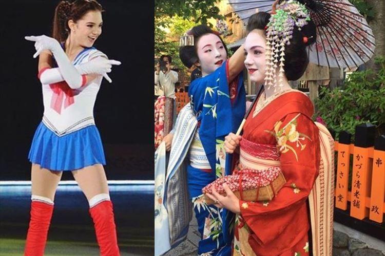 「ただただ美しい」セーラームーンでお馴染み フィギュアのメドベージェワ選手が舞妓さんに!!