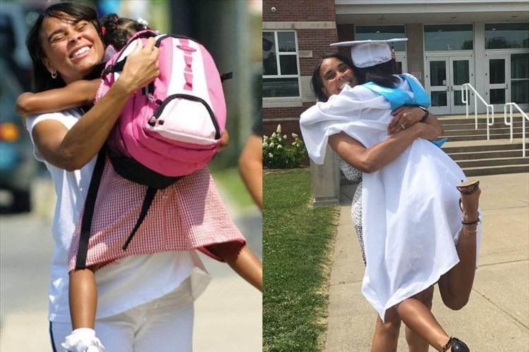 親子の絆は永遠に… 高校卒業の日、初めて幼稚園に登園した13年前と同じシーンを再現!!