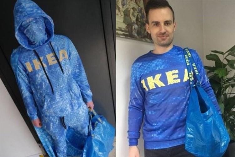 「これでイケアは顔パスだな」イケアの青いバッグを模したトレーナーやTシャツが登場!!