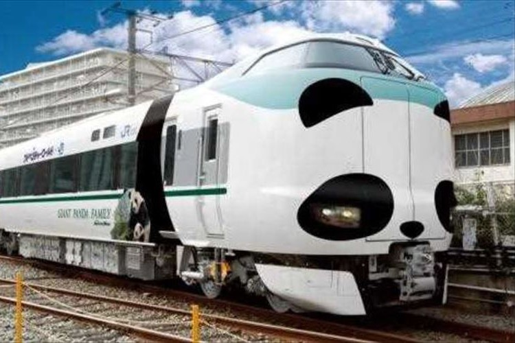 JR西日本と和歌山の「アドベンチャーワールド」がコラボ!パンダ顔の特急が運行開始!