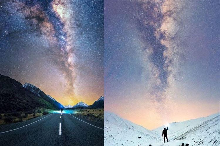 """まるで絵画の世界…ニュージーランドの大自然の中でみる""""天の川""""が幻想的!"""