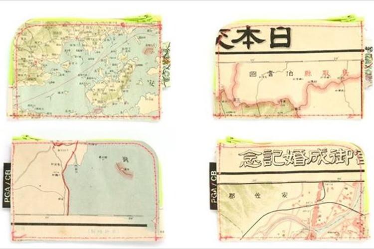 """古地図ファン歓喜!""""本物の古地図""""を切り抜いて作られた小銭入れが登場!"""