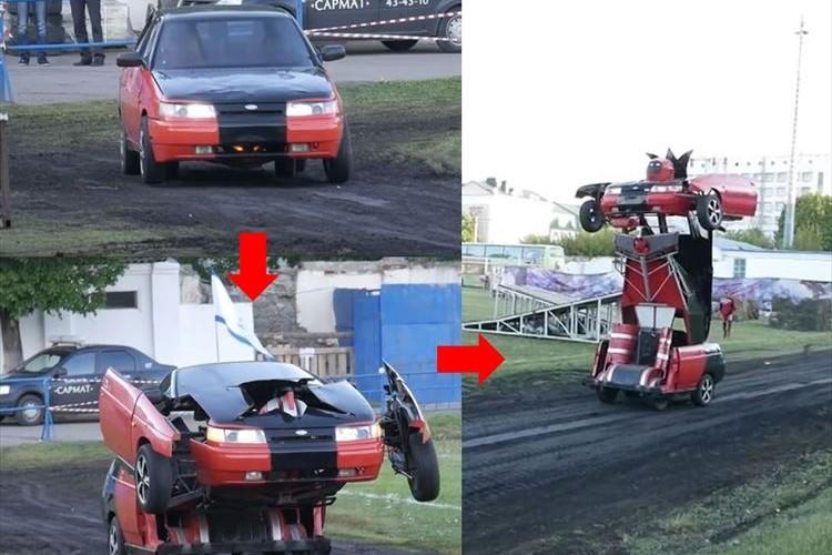 走行中の車がロボットに変身!「トランスフォーマー」好きの親子が夢を実現!!