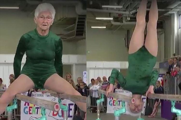 【動画】「この動きは凄すぎる…」91歳 現役体操選手の平行棒の演技に驚愕!!