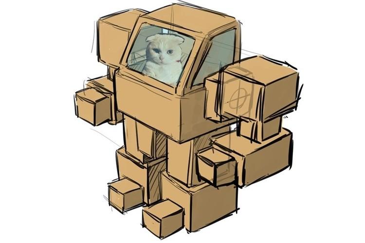 玩具デザイナーの夫と溶接工の妻が作った愛猫用ロボットが素晴らしい出来!
