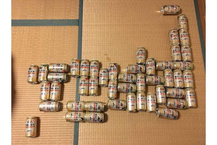 ブラボー!47都道府県の『キリン一番搾り』を並べて作った日本地図がすんばらしい!