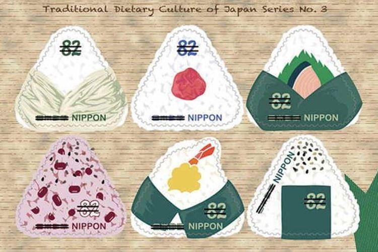 可愛くて美味しそう~!梅干しや鮭のおむすびが切手になって10月24日から発売
