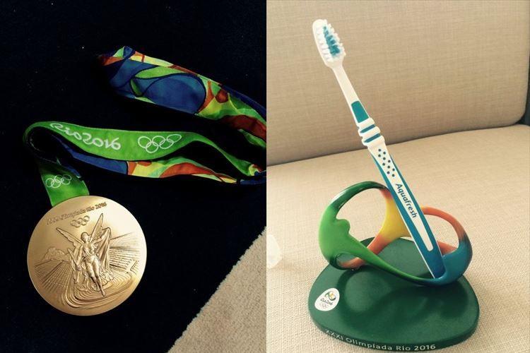 体操・白井選手の「歯ブラシ立て?」発言が中継で拾われて1年…本当に歯ブラシを立てていた!?