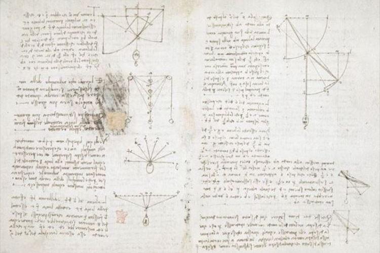レオナルド・ダ・ヴィンチの手記570ページが電子化!大英図書館が無料公開!