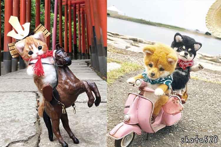 ホンモノみたい!羊毛フェルトでつくられた犬や猫のお人形が可愛いと話題!