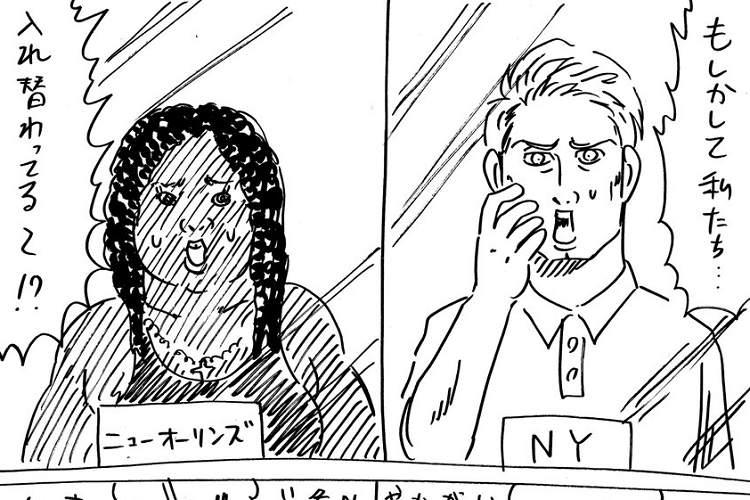『君の名は。』のハリウッド版ってこんな感じ…?あの一報に対して描いた漫画が秀逸すぎた(笑)
