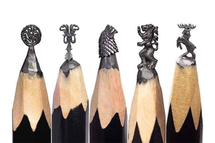 """えっ、そこを彫るんですか?儚い芸術…""""鉛筆の芯アート""""が繊細すぎる!"""