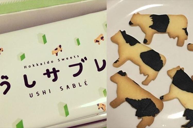 北海道のお土産の新定番は「うしサブレ」模様も1枚1枚ちがう手のこんだ一品!