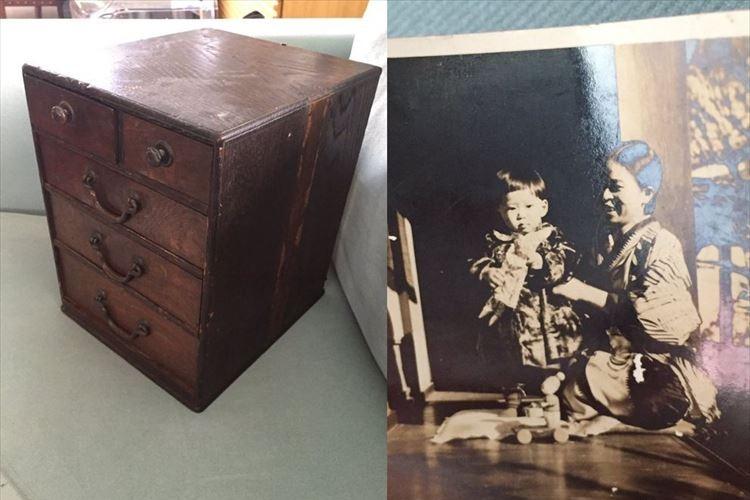 日本の家族に返してあげたい!ニュージランドで古い裁縫箱を買ったら中から写真が…