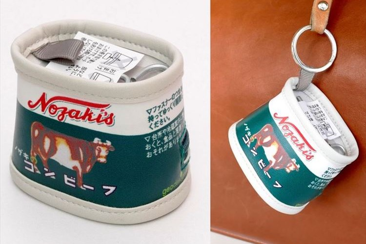 ノザキのコンビーフ缶詰がポーチに!「巻き取り鍵」を付けるなど忠実に再現!