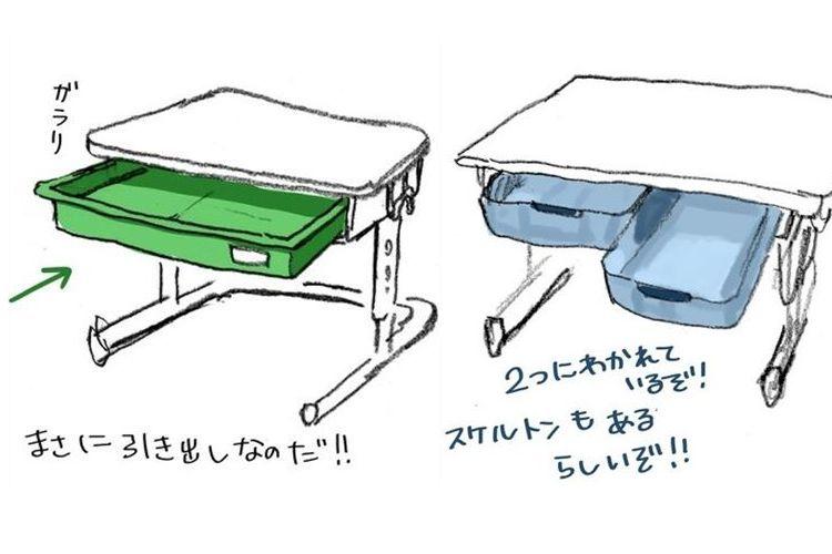 小学生の頃みんなの机の中に「お道具箱」と「引き出し」どっちを入れてた?