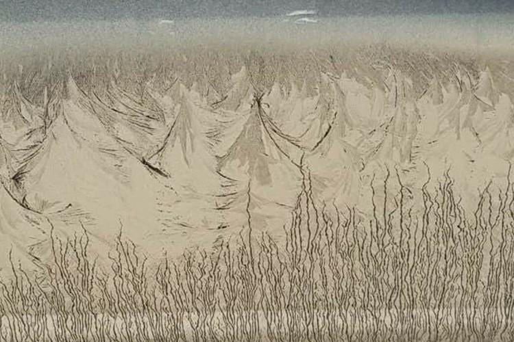 芸術的な山の絵画、この絵は名作それとも駄作?この絵の秘密に驚愕!
