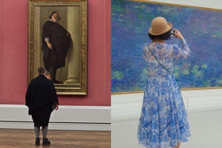 美術館内の奇跡!芸術作品とたまたま調和してしまった人々の写真がおもしろい【12枚】
