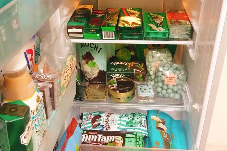 夢だけど、夢じゃなかった…『チョコミント』で埋め尽くされた冷蔵庫がシアワセそのもの♡