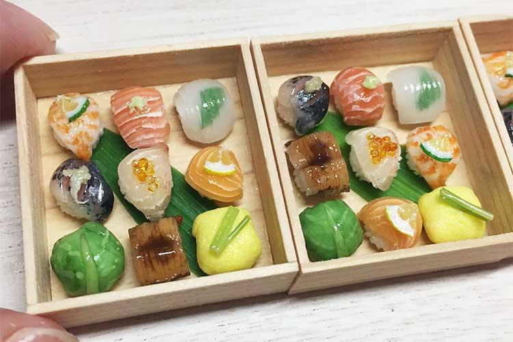 「イカの透け具合!」空腹を刺激するリアル感…ミニチュアのお寿司に反響!