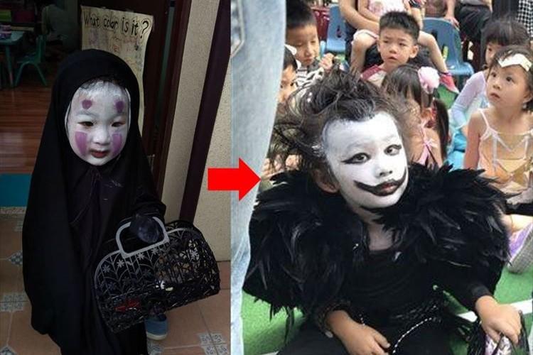 昨年のハロウィン…カオナシに扮して周囲の子供を泣かしたあの子が今年もまた…