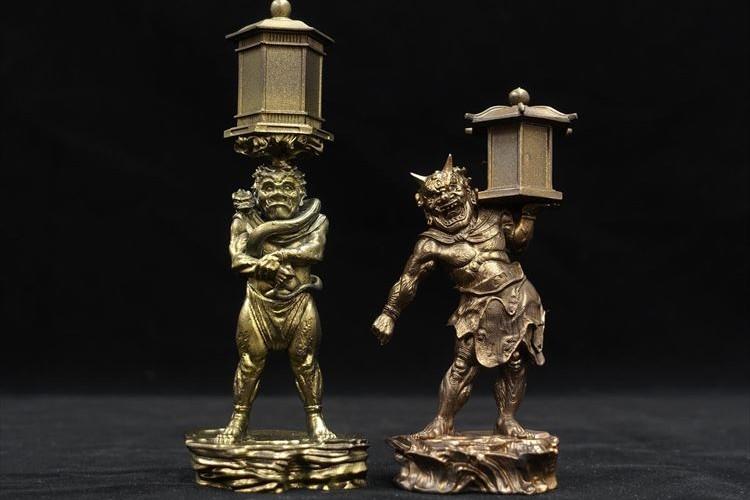 【数量限定】国宝指定「天燈鬼・龍燈鬼立像」を再現した鑑賞用立体彫像が発売!