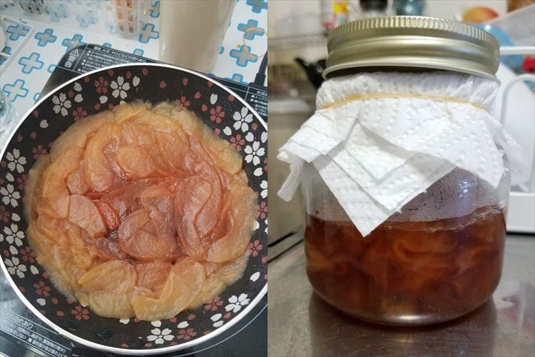 紅茶に入れて飲むと体が温まって喉回復!リンゴを使った「コンポート」の作り方が話題に