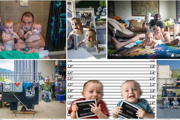 フォトグラファーの父が撮影する双子の息子の写真が面白い!