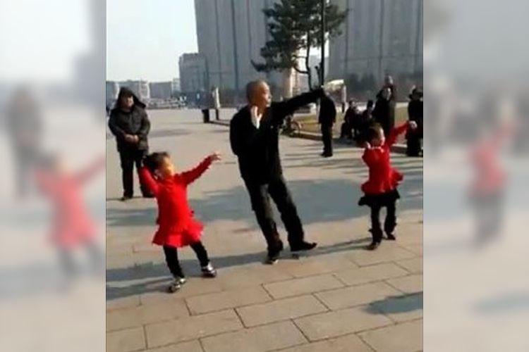 """想像以上にキレッキレ!中国で撮影された""""おじいちゃんと女の子のダンス""""に大絶賛の声"""
