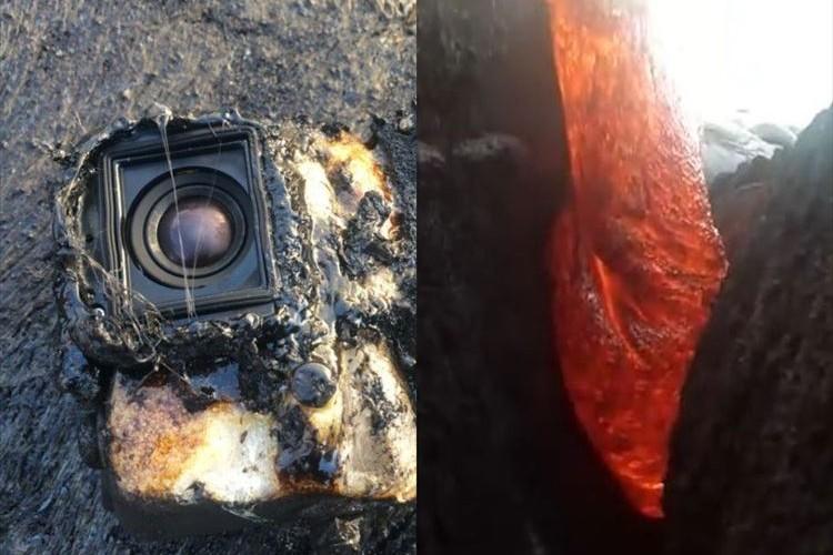 溶岩に飲まれつつも撮影を続けていたGoProカメラが凄い…映像も必見!
