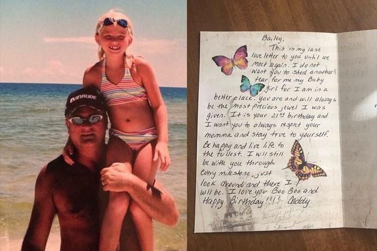 娘が16歳の時にガンで他界した父親…娘が21歳になるまで毎年誕生日にメッセージを残していた