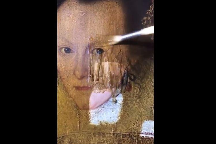 【動画】約400年前の絵画が元通りに!200年前に保護用のニスが塗られていた