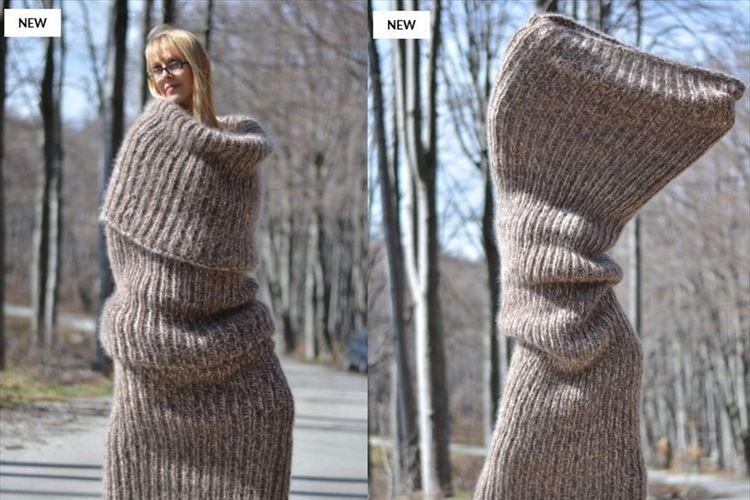「もはやスカーフではないな」全身を包むチューブスカーフがあったかそうだけど異様だ