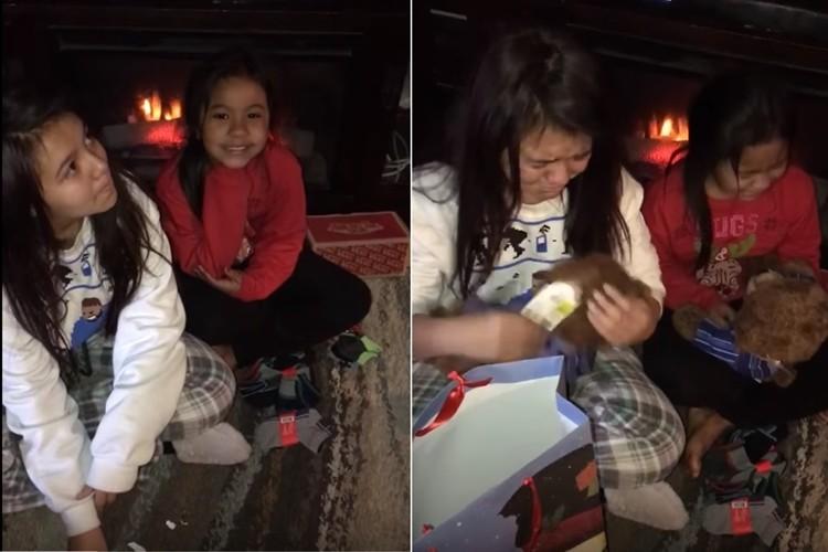 感動のプレゼント、亡き父からのプレゼントに娘たちが号泣
