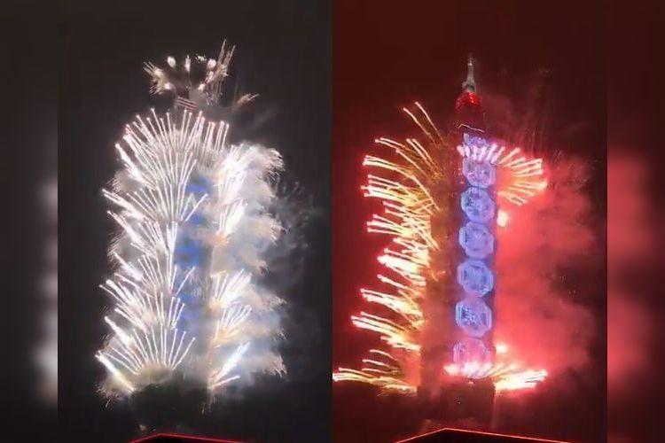 超盛大に爆破!台湾の超高層ビル「台北101」の年越しカウントダウン花火がまじヤベェ!