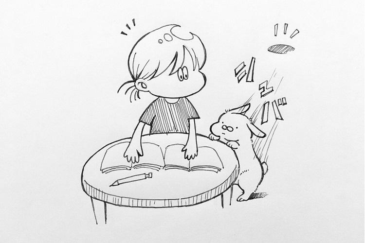 【漫画】探し物をしていると…?飼い主さんへの愛溢れるうさぎの行動が可愛すぎる!