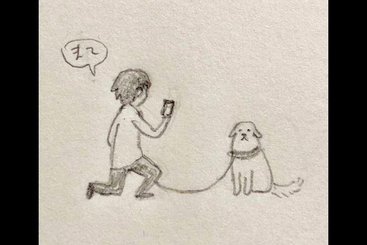 """かわいすぎ…桜をバックにワンコを撮りたい飼い主の""""この後の展開""""が癒しパワー∞"""