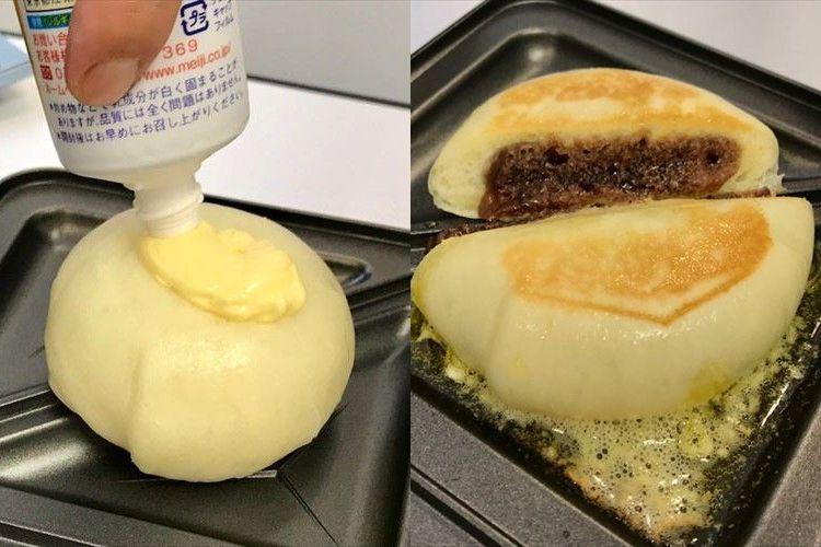 あんまんにバターを乗せてジュワァ~!ホットサンドメーカーを使った斬新なアイディアが話題