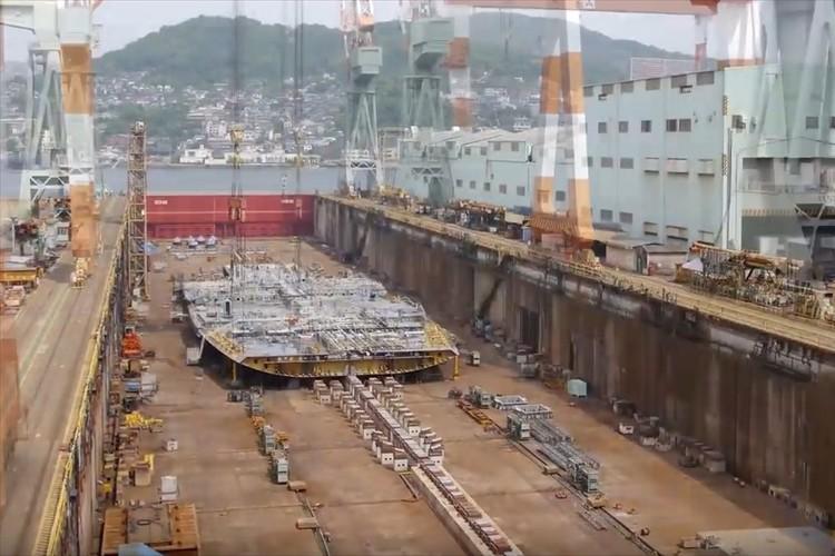 思わず見入ってしまう…大型クルーズ客船を造る過程を記録したタイムラプス動画