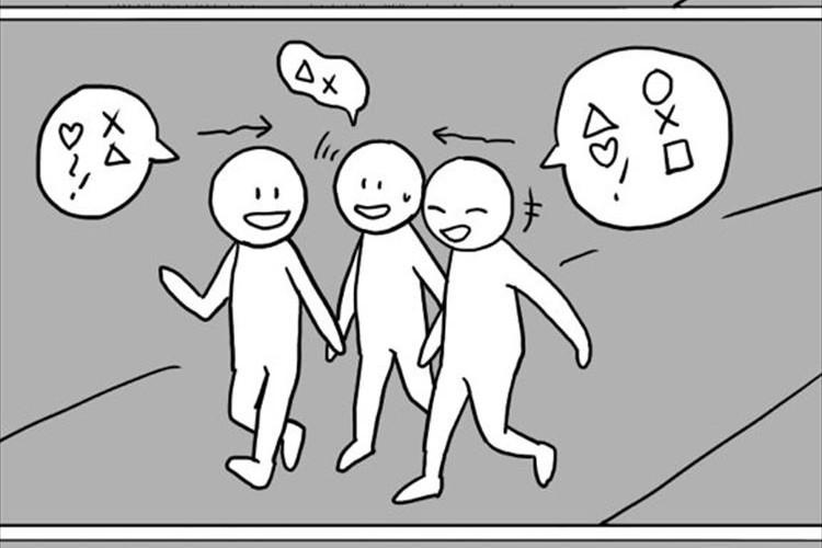 【この現象あるある】3人で歩くとなぜか1人だけ自然と後ろにいってしまうよね