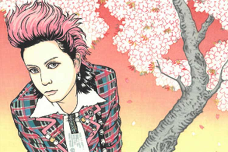 X Japanのhideが旅立ち20年…浮世絵木版画「hide桜の景」として甦る!
