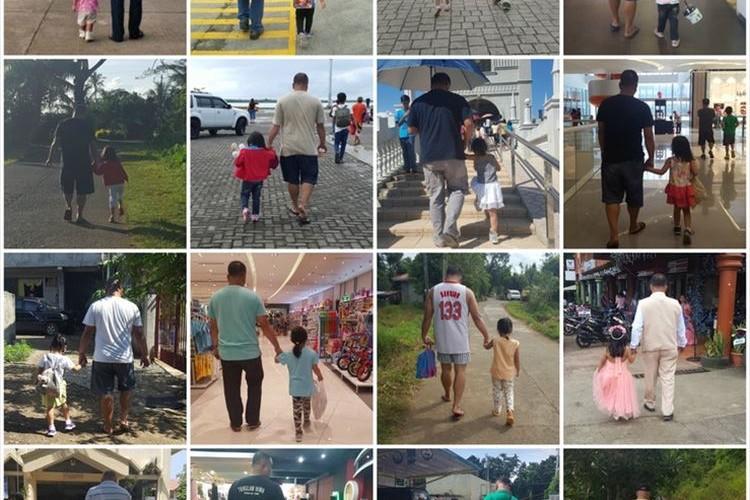 夫と娘が歩く姿を妻が4年間にわたって隠し撮り…その理由に感動