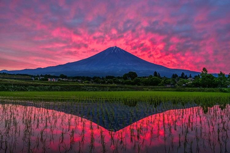 富士山ってこんなに美しかったのか…!幻想的な光景を切り取った写真に感動
