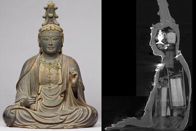 仏像をCTスキャンで調べてみた結果…容器や巻物など180点もの納入品が発見される!